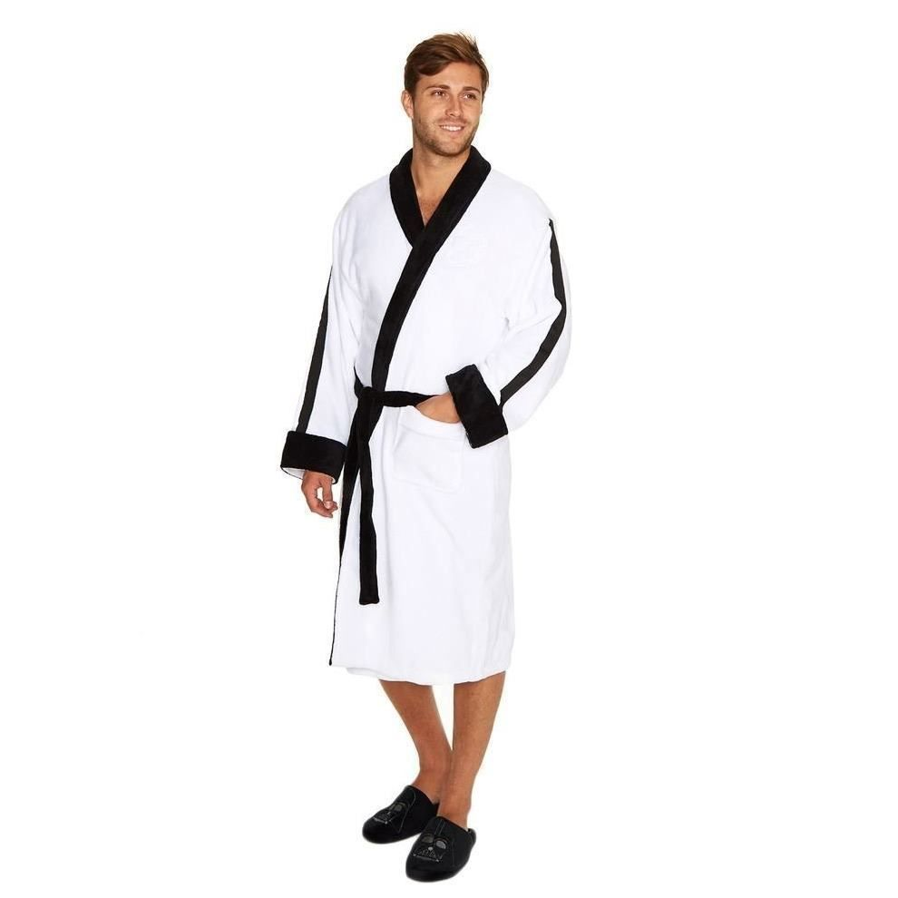 Star Wars Stormtrooper Embossed Fleece Bathrobe White Men\'s Dressing ...