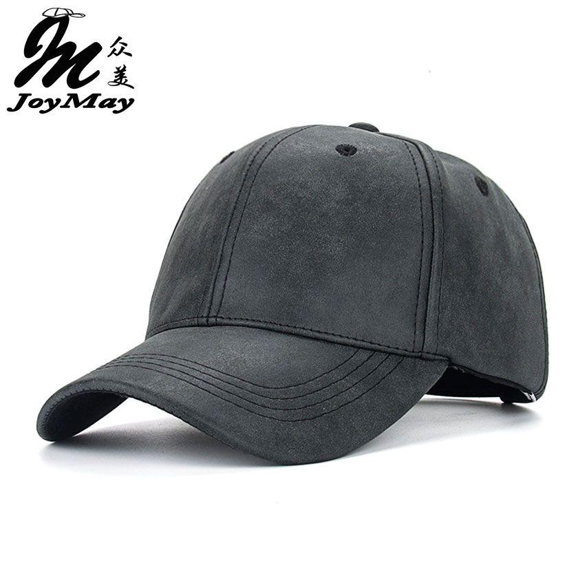 Joymay 2016 NEW PU Faux Leather Baseball Cap Hip Hop caps gorras Snapback  Hat Biker Trucker For Men women wholesale B385 9d96304e8521