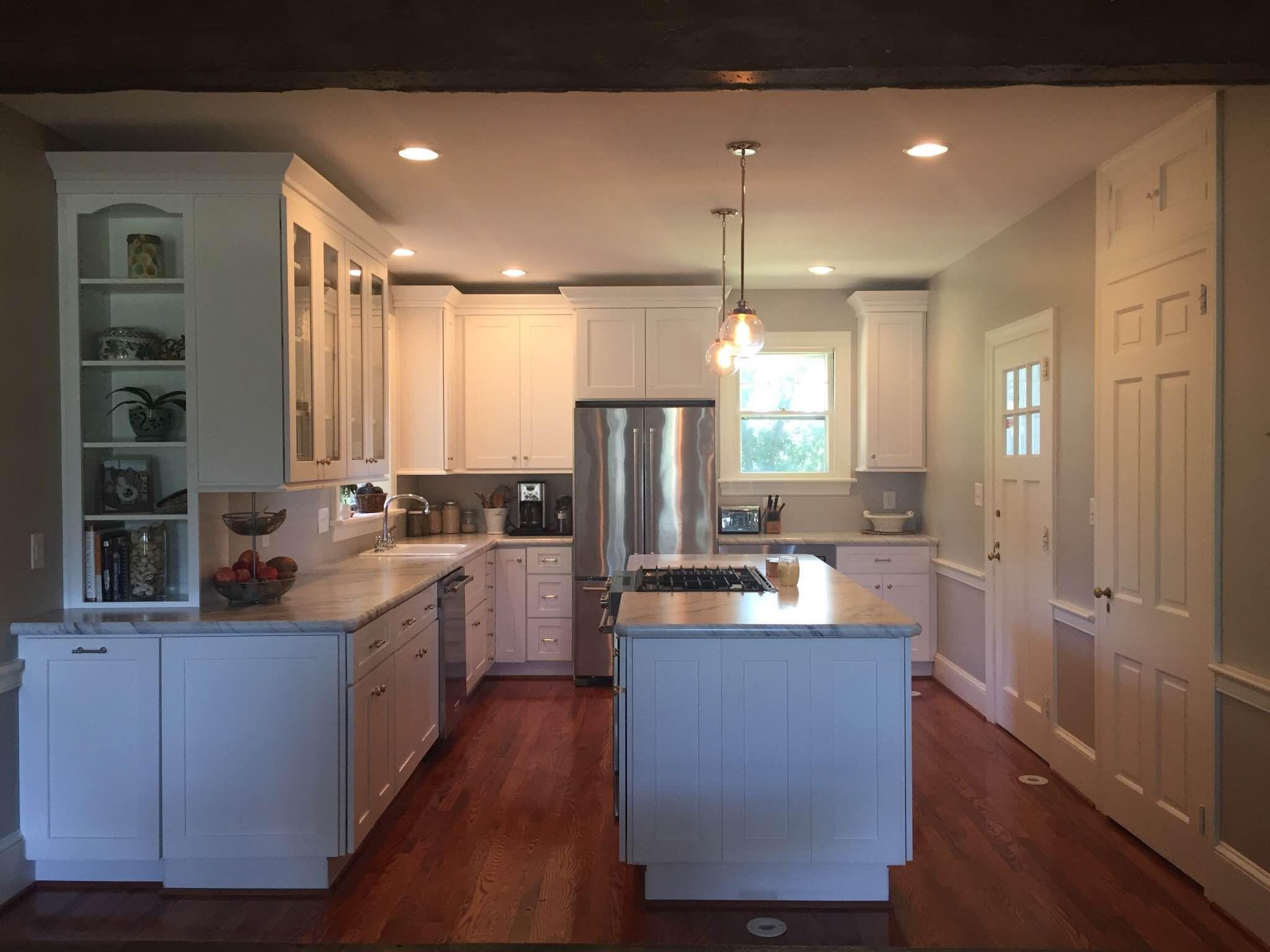 Contemporary White Shaker Kitchen white #kitchen cabinets #remodeledlily ann #cabinets white