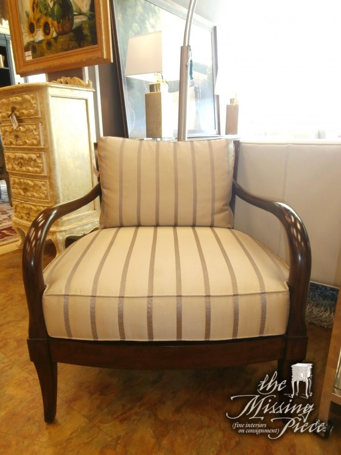 Thomasville curved wood arm accent chair Gorgeous