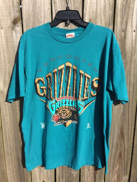 Vintage 1994 Vancouver Grizzlies Tee Nba 90s Nutmeg T Shirt 90s Shirts Shirt Designs Vintage Outfits