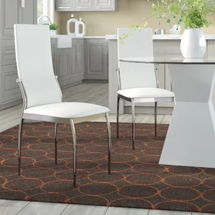Dining Chair White And Silver Covers Wayfair.ca