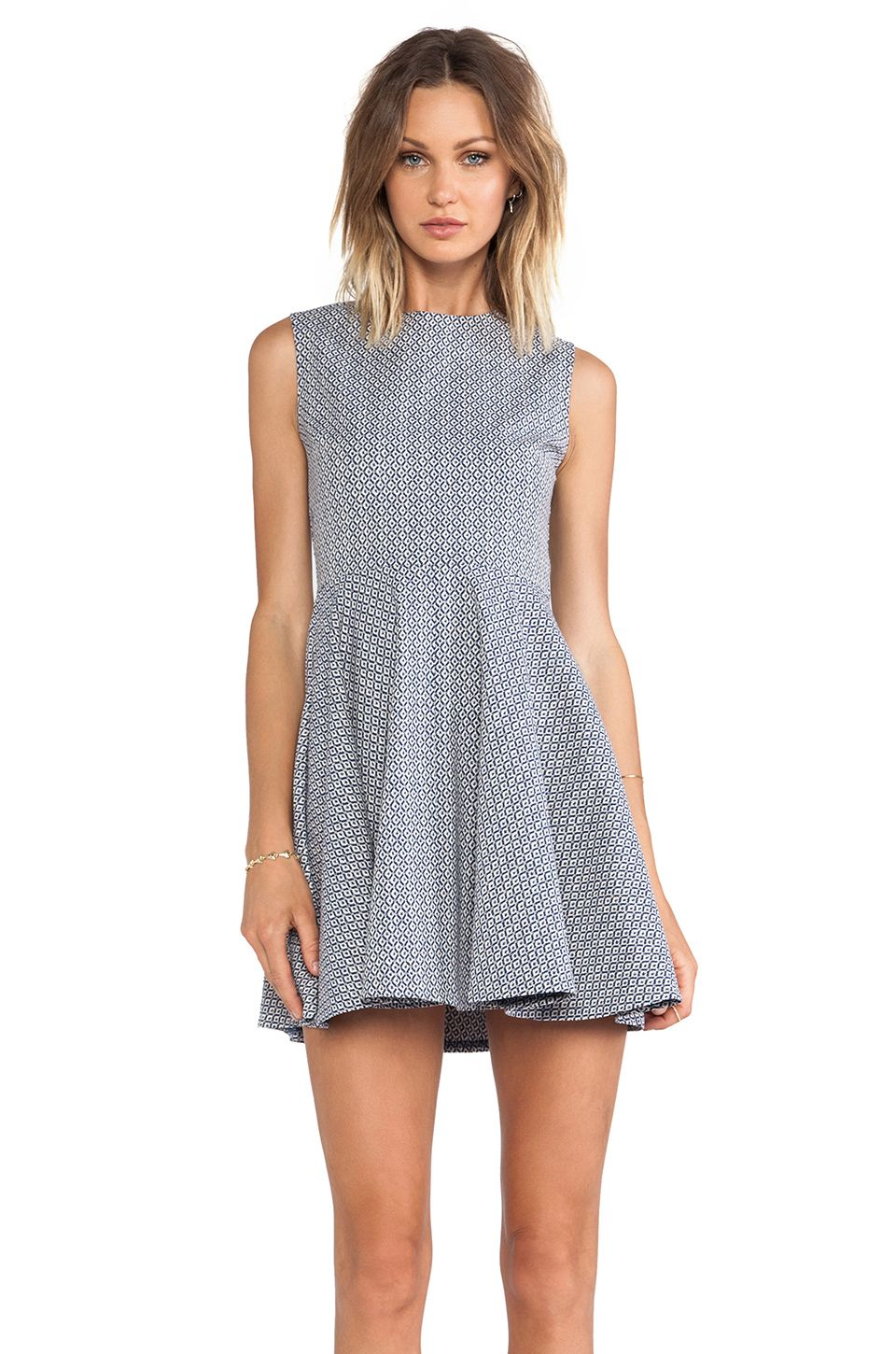 Love love love this Diane Von Furstenberg Jeannie Dress in Blue & Cream