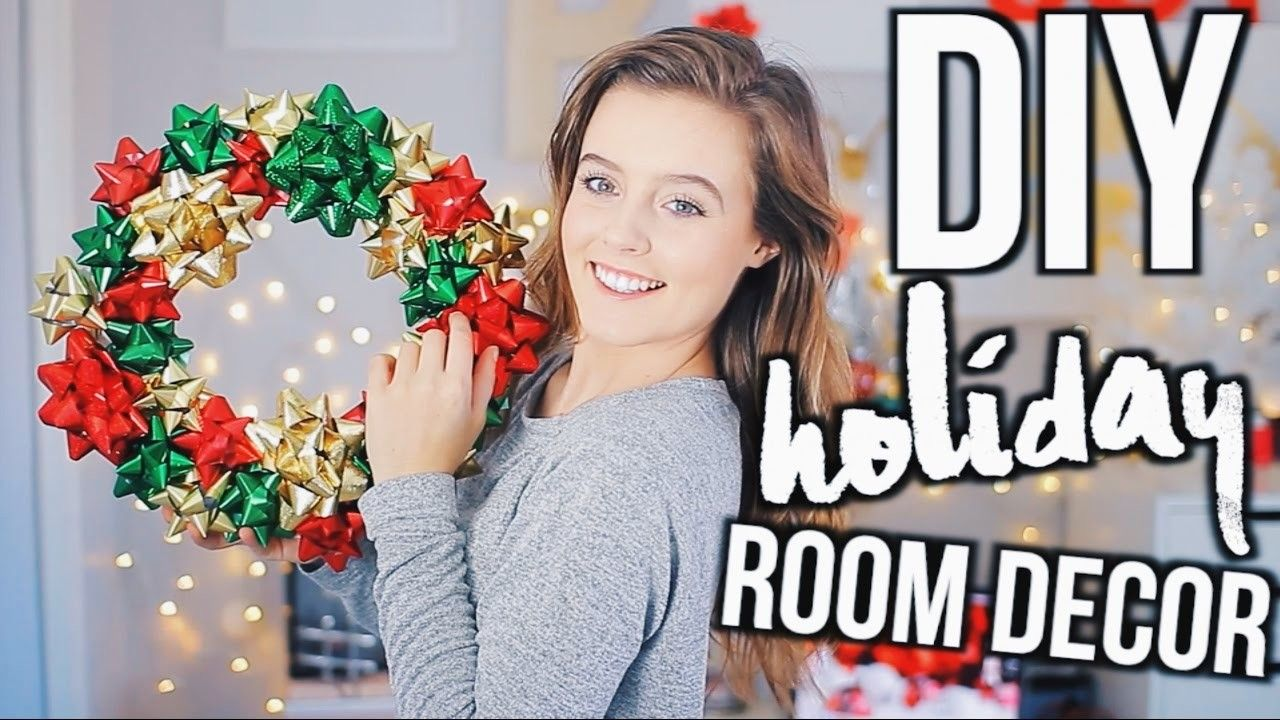 DIY Holiday Room Decor! Easy Decorations for the Holiday 2016!
