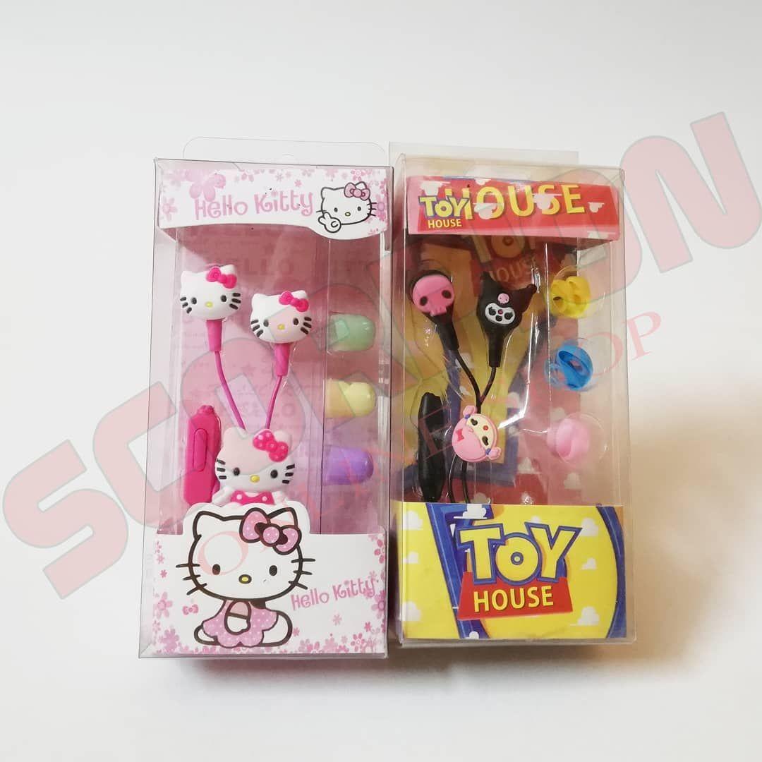 Headphone Hello Kitty Toy House زهقتى من شكل السماعات التقليدي دلوقتى بقى فيه سماعات باشكال مميزه ولذيذه وكمان صوتها قوى وعالى وا Toy House Cat Toys Kitty