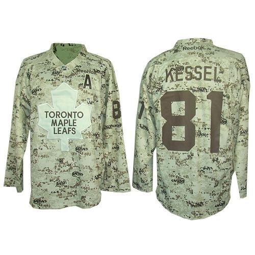Authentic Phil Kessel Camouflage Men's NHL Jersey: #81 Toronto Maple Leafs  Reebok