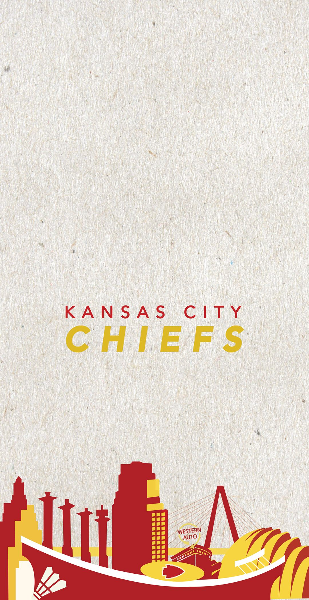 The Kansas City Arrowhead Cityscape Designed As A Mobile Wallpaper As A Free Download With Newly Added Kc Landmarks Including Sh In 2020 Kansas City Chiefs Kansas City Skyline Design