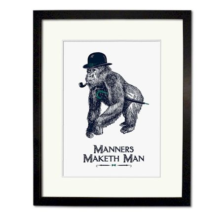 Chase & Wonder - Manners Maketh Man Screen Print