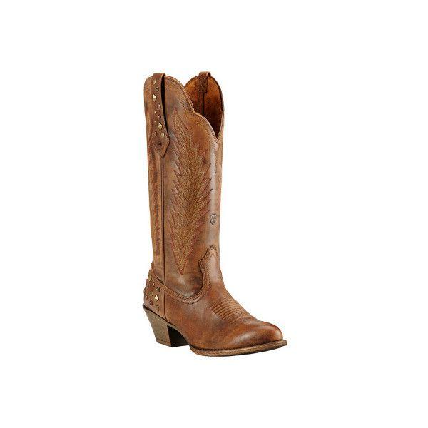 Women's Ariat Dusty Diamond Cowgirl Boot - Tawny Full Grain Leather... ($220