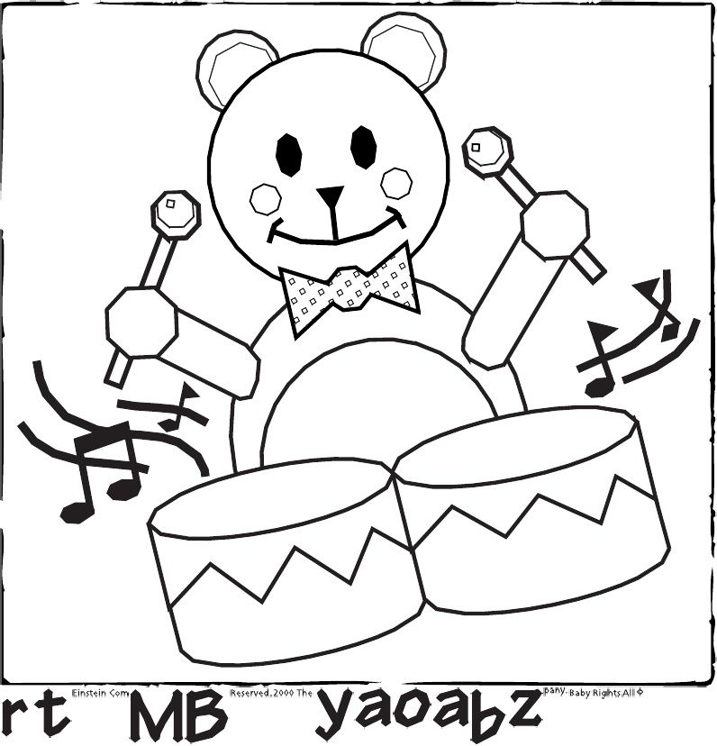 baby 1st birthday coloring pages - photo#13