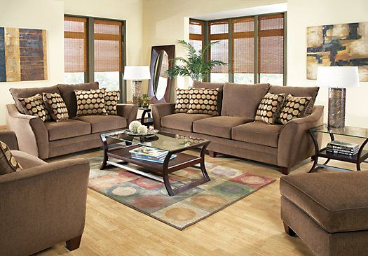 Best Shop For A Palmdale Brown 7 Pc Livingroom At Rooms To Go 640 x 480