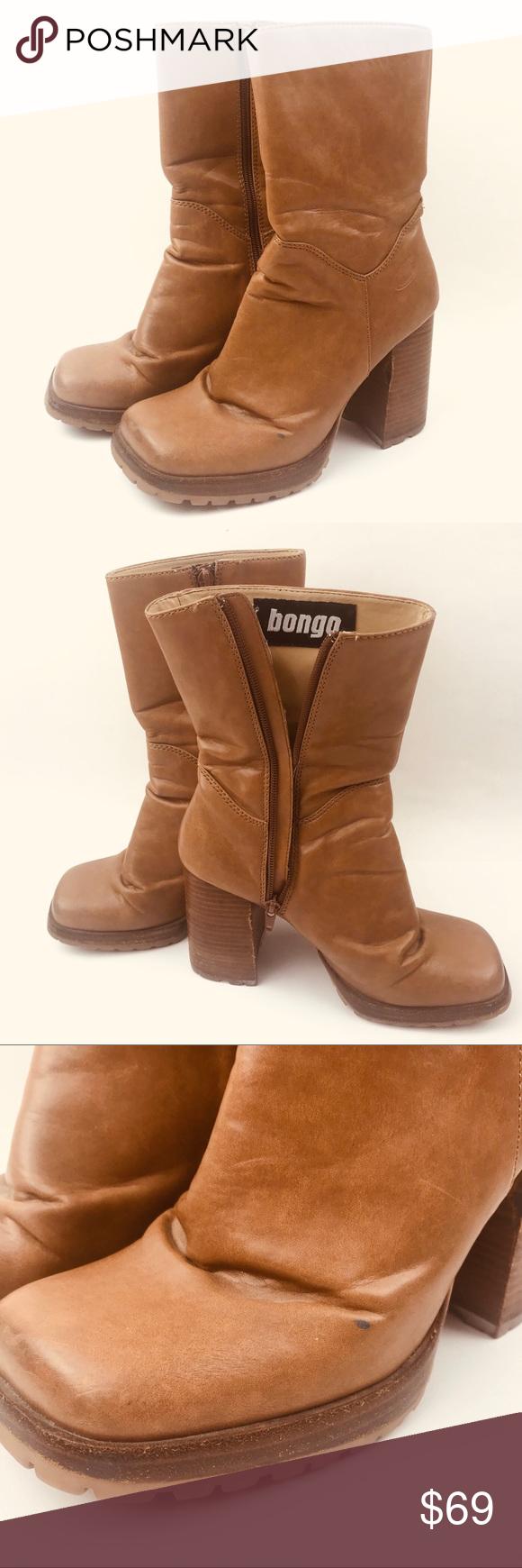 75d0eaca010f Vintage 90s Bongo platform chunky boots hippy Vintage 90s Bongo platform  chunky boots hippy The underside