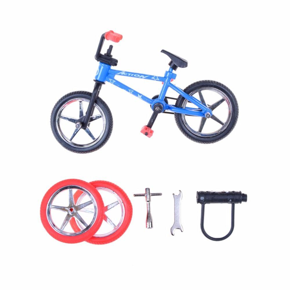 1 Set Creative Game BMX Bike Toys Alloy Mini Finger Bikes Boy Toy ...