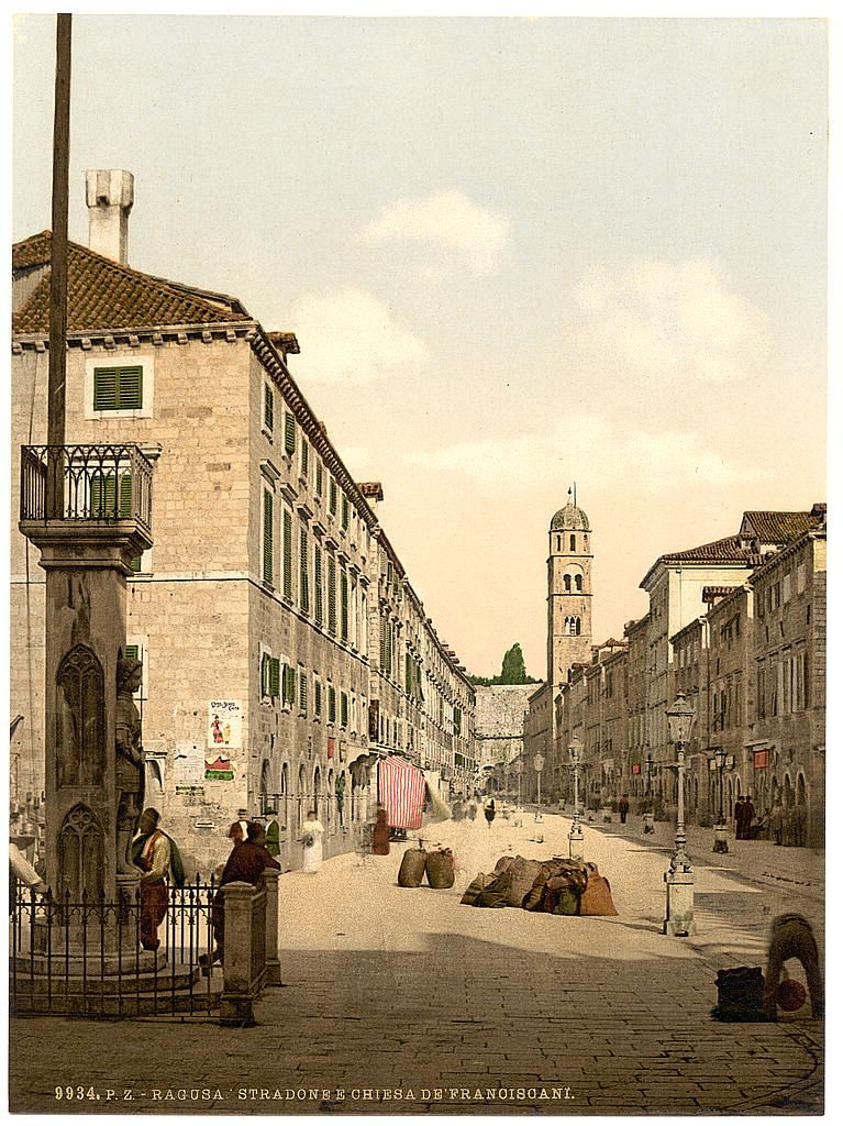 Ragusa The Franciscan Church Dalmatia Austro Hungary Croatia Dubrovnik Old Town Old Pictures