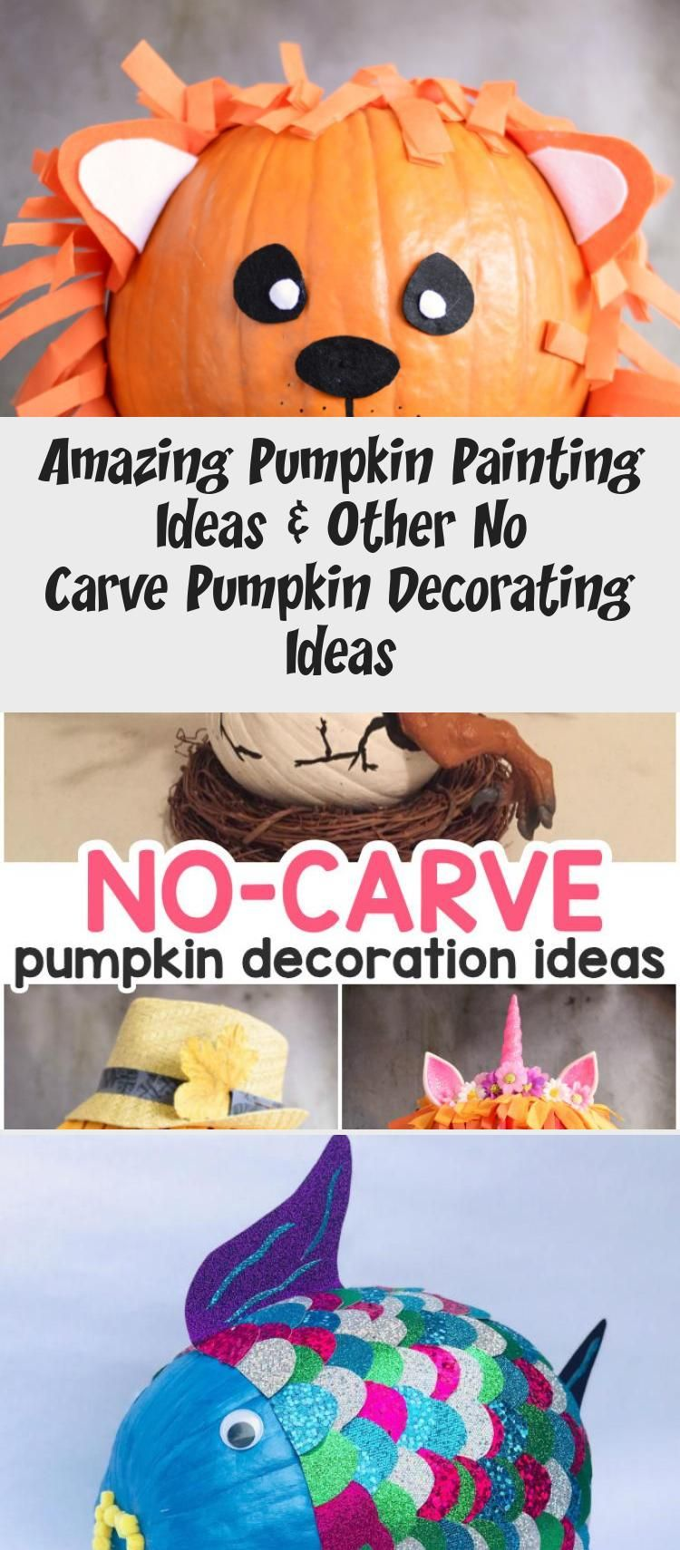 Amazing Pumpkin Painting Ideas & Other No Carve Pumpkin Decorating Ideas #Uniquepaintingideas #paintingideasForToddlers #paintingideasPencil #paintingideasEasy #paintingideasWatercolor #pumpkinpaintingideas