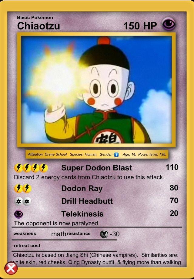 Chiaotzu Pokemon Cards Dragon Ball