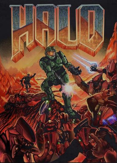 Halo (Doom inspired) | Nerd Stuffs | Halo game, Halo poster