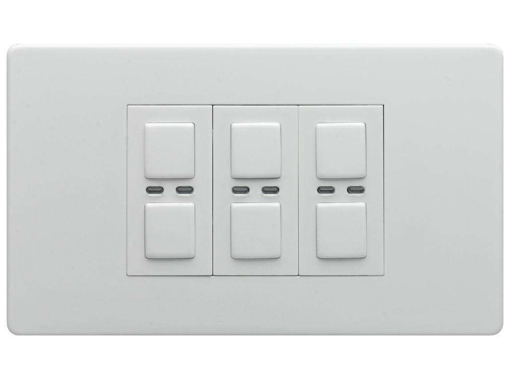 LightwaveRF Wireless Control 3 Gang 2 Way 210W Light Switch/Dimmer ...