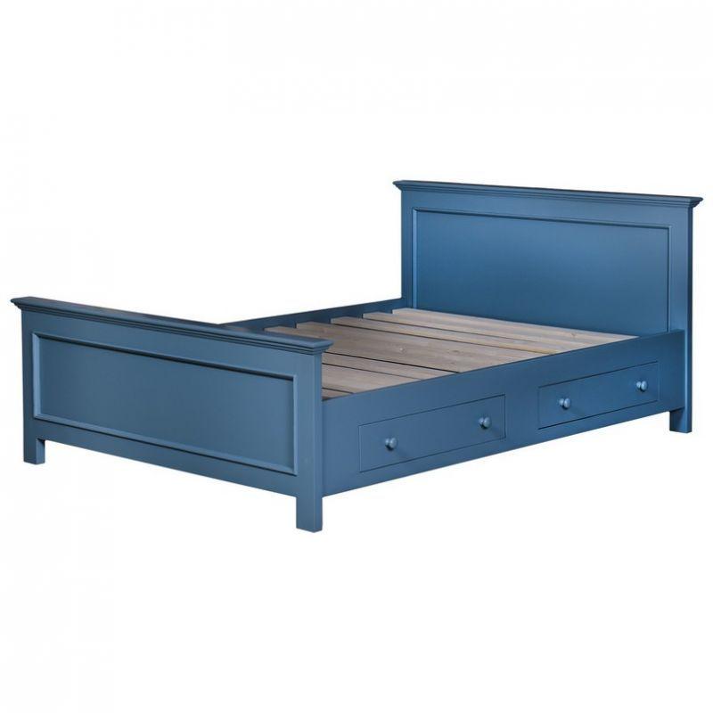 Landhausbett Blau Schlafzimmer Landhausstil Landhausmobel