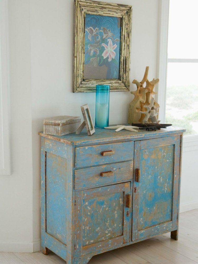 Eine blaue Vintage-Kommode | Truhe | Pinterest | Kommode, Blau und ...