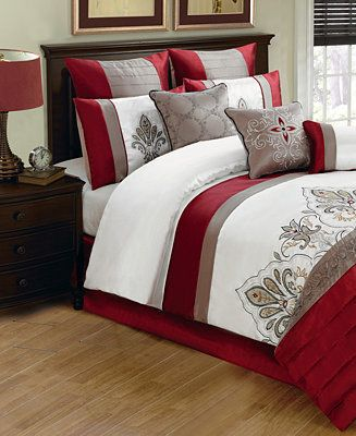 Jacobson 10 Piece Queen Comforter Set 300 Christmas Bed Linen