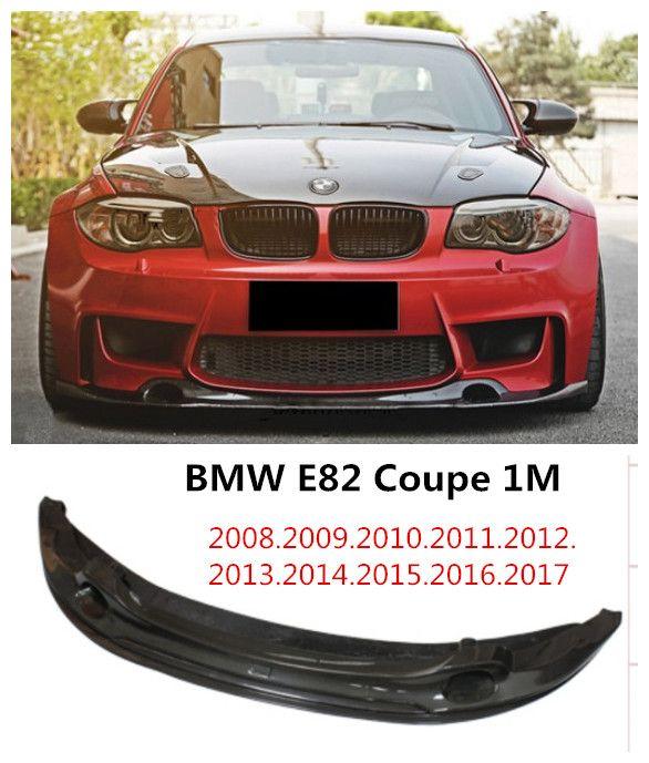 For Bmw E82 1m Coupe 2008 2017 Carbon Fiber Front Lip Spoiler Auto