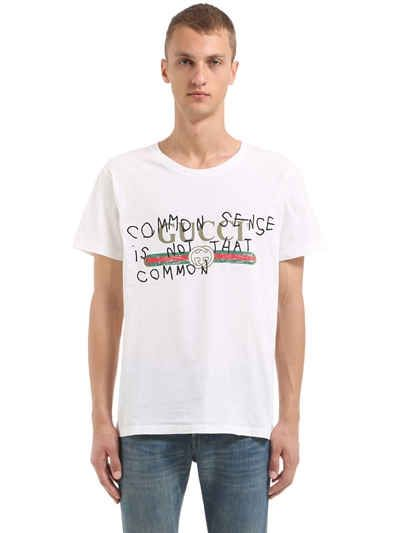 2a1233041 GUCCI COMMON SENSE PRINT COTTON JERSEY T-SHIRT. #gucci #cloth ...