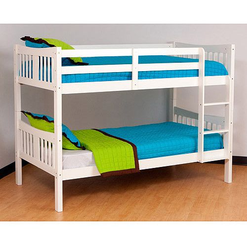 Storkcraft Caribou Bunk Bed White Kids Teen Rooms Walmart Com