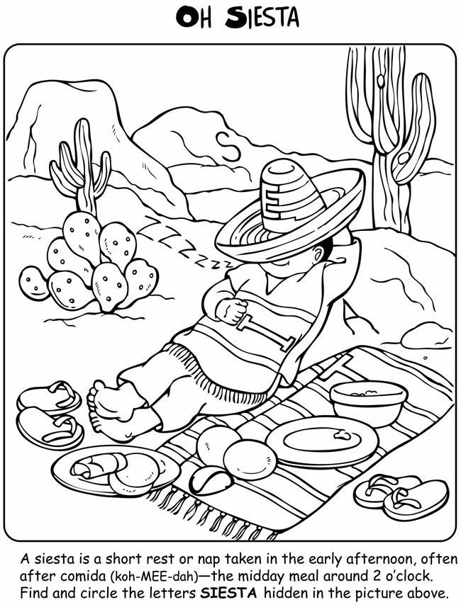 coloring pages spanish culture | Welcome to Dover Publications Let's Learn about Mexico ...