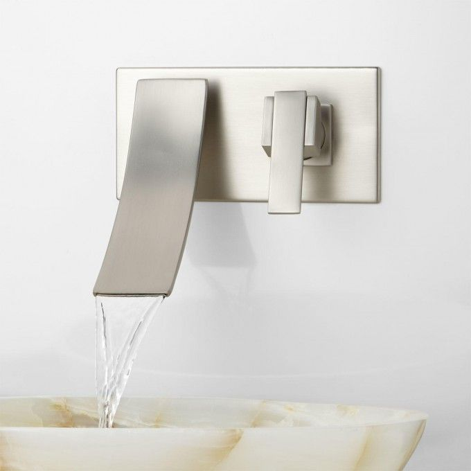 Reston Wall Mount Waterfall Bathroom Faucet Bathroom Design