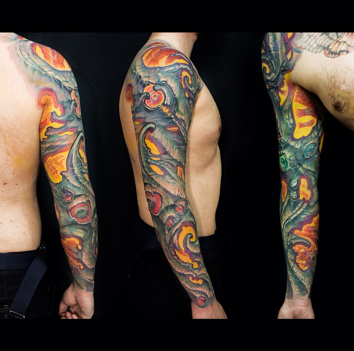 Biomechanik Tattoo Ganzer Arm bioorganic #biomech #putyatin #tattoo #mech