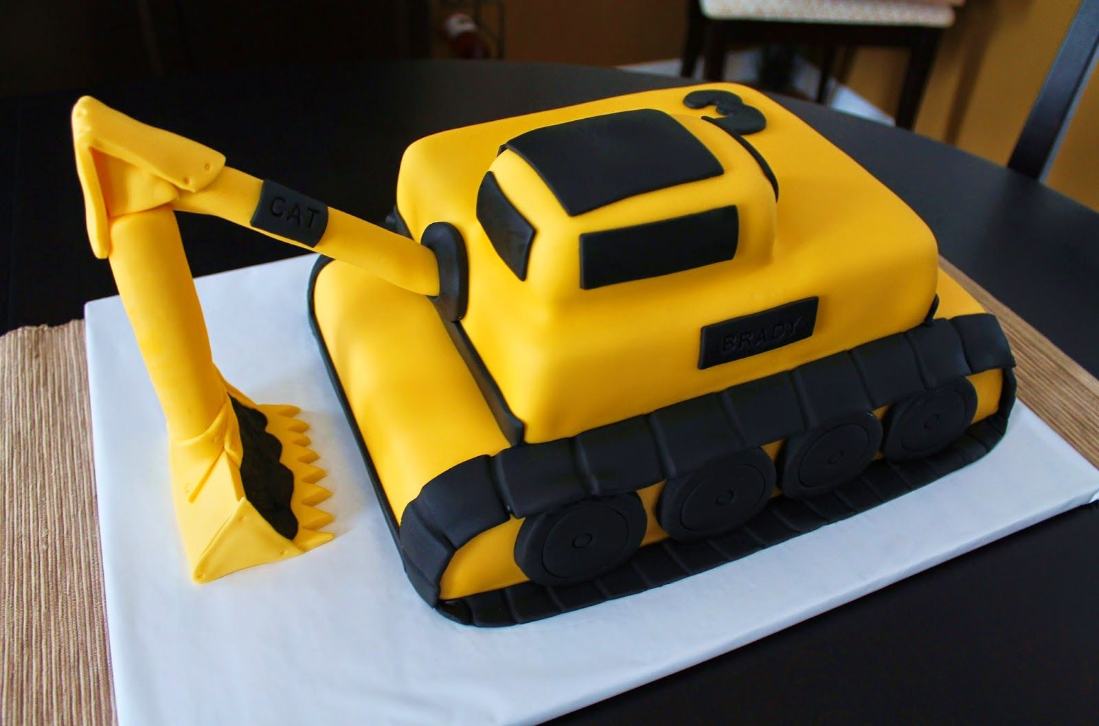 Excavator cake template excavator cake construction for Digger cake template