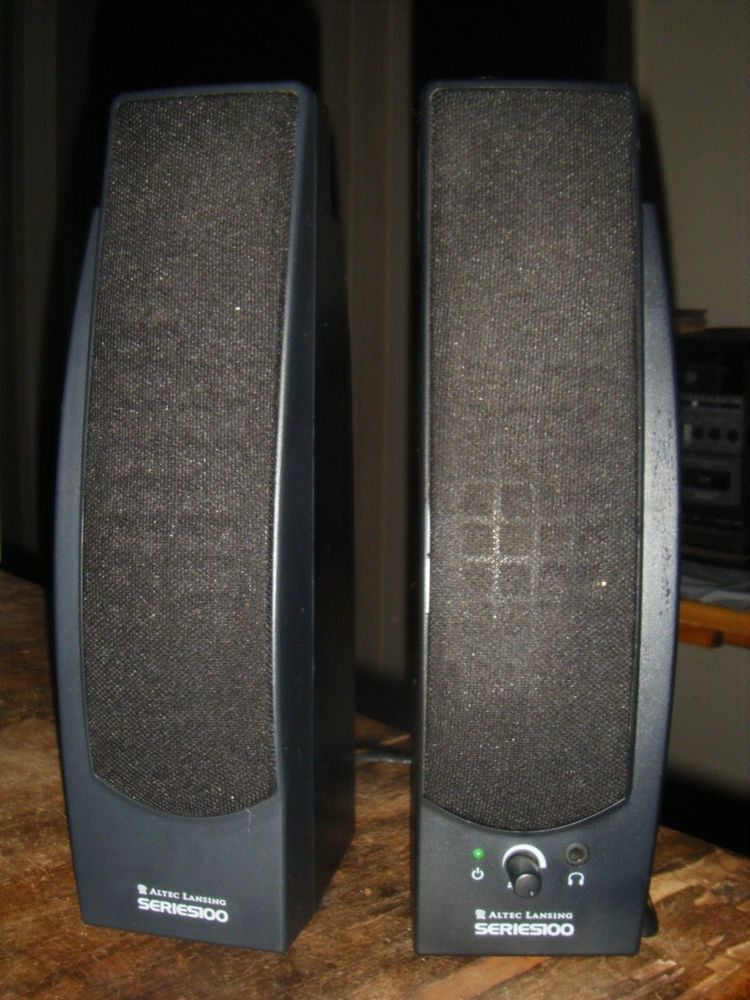 Altec Lansing Series 100 Amplified Computer Speaker System 120 Left Right 9V 400