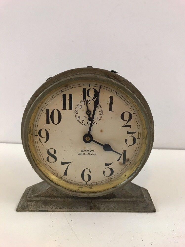 Antique 1927 Westclox Big Ben De Luxe Alarm Clock Runs Read Story Wow Free Ship Bigben