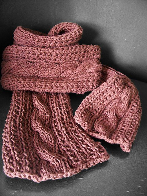 Simple Cable Scarf Pattern By Ajeng Sitoresmi Knit Scarfs