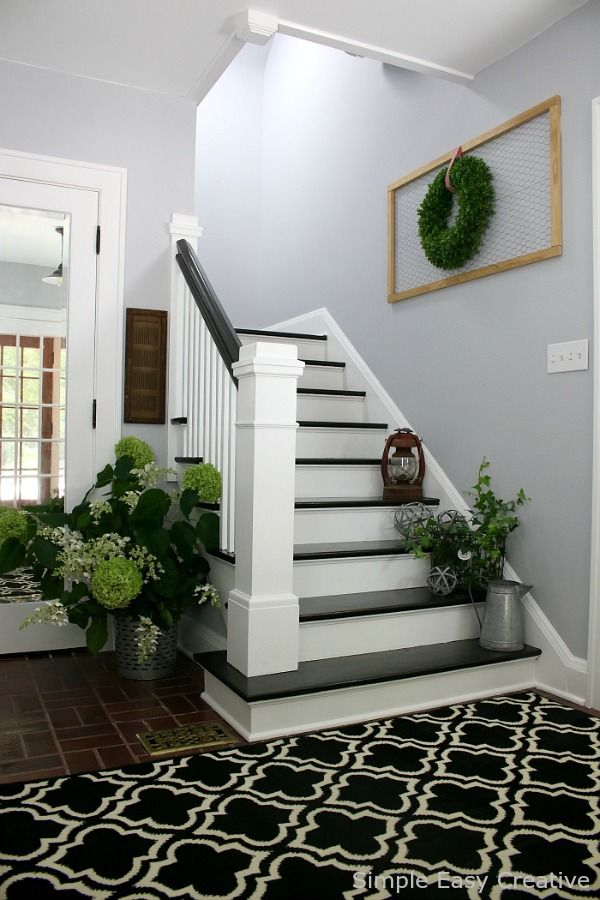 Best Modern Farmhouse Foyer Makeover A New Coat Of Paint 400 x 300