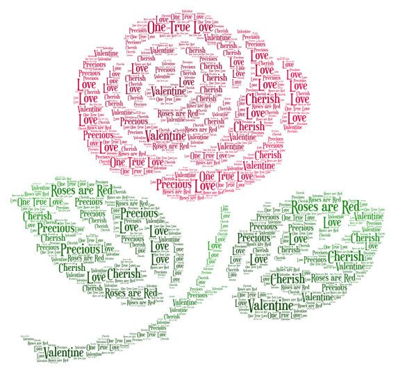 Flower Word Art Gift picture