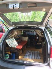 Photo of Innenraum des Mini-Van-Wohnmobils #Bank #falten #Leben #minivan #Mütter