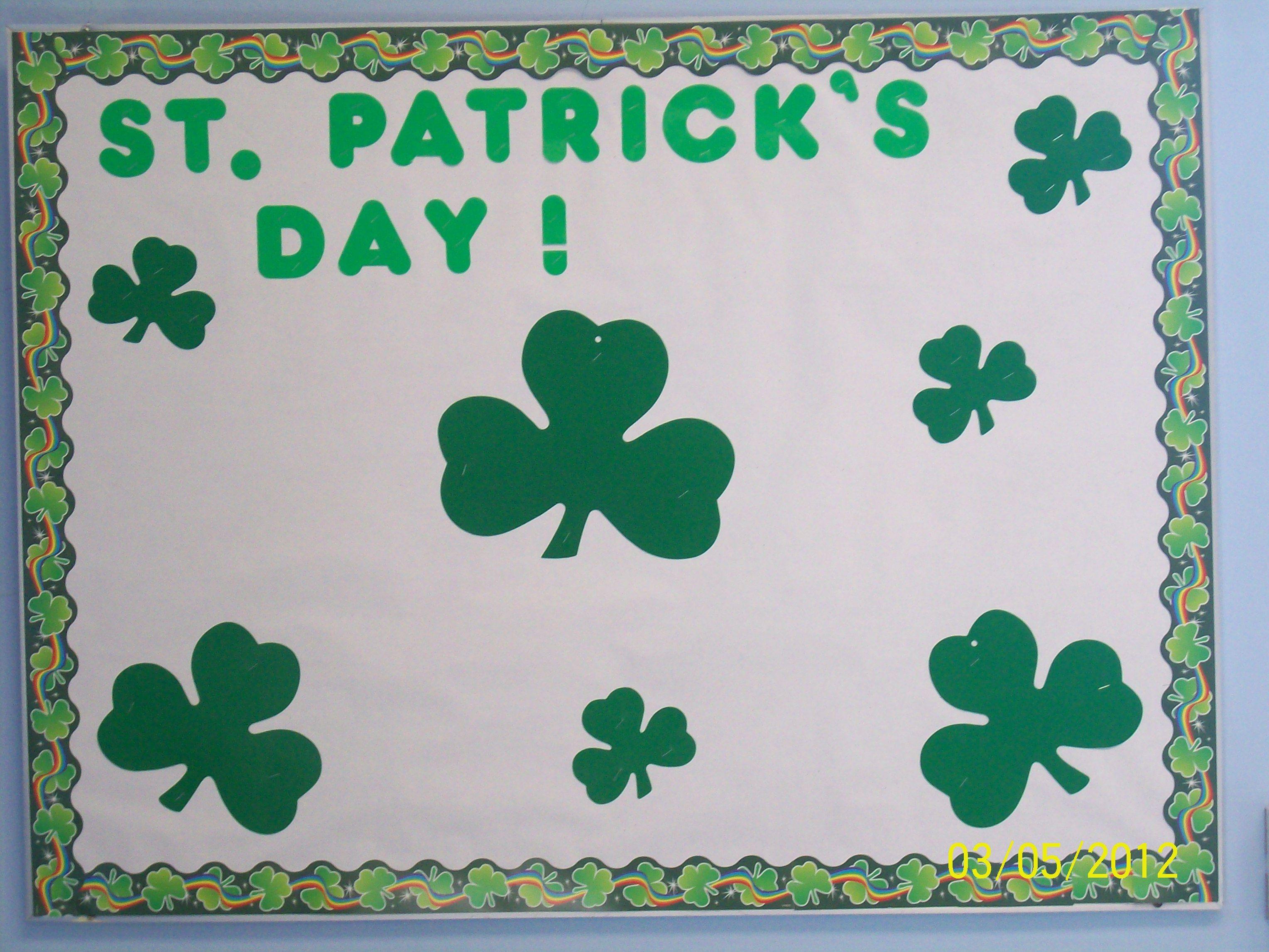 St Patrick S Day Bulletin Board