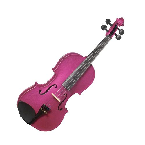 Cremona SV-75 Premier Novice SPARKLING ROSE Violin Outfit 1/4 Size, Hardwood Fittings, Prelude Strings