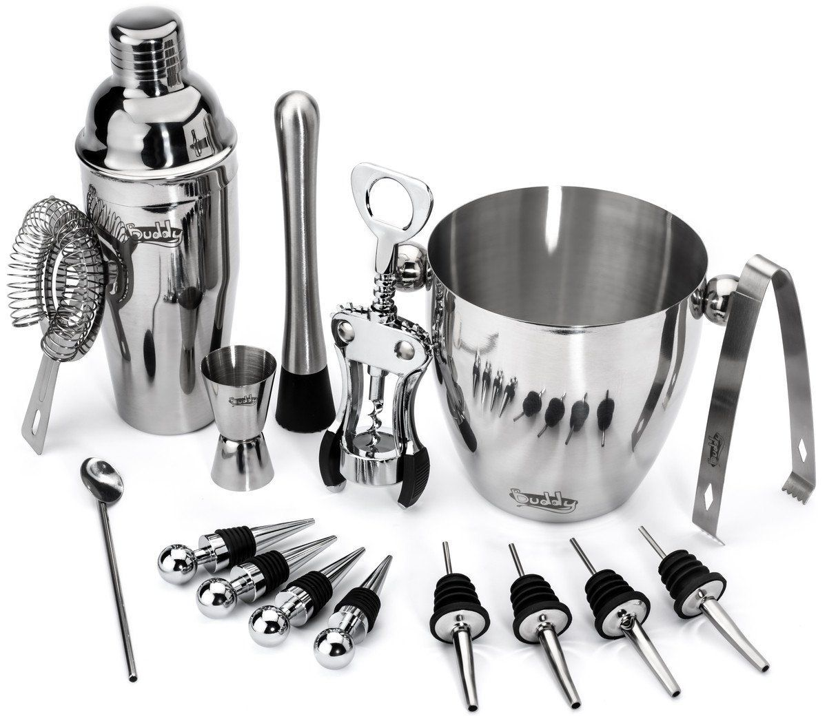 Professional Bartender Kit Cocktail Shaker Bar Set Includes Tools /& Accessories