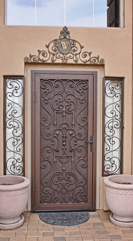 Mediterranean Home Products On Houzz Security Screen Door Metal Screen Doors Security Screen