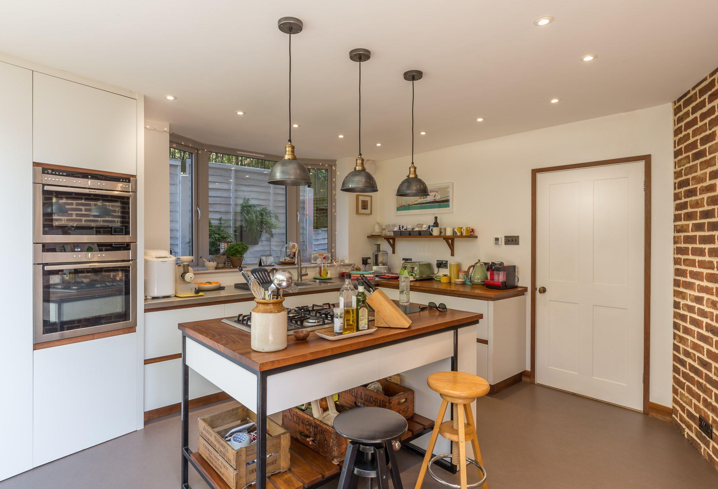 Best Modern Kitchen Home Extension Feature Brick Wall Kitchen 400 x 300