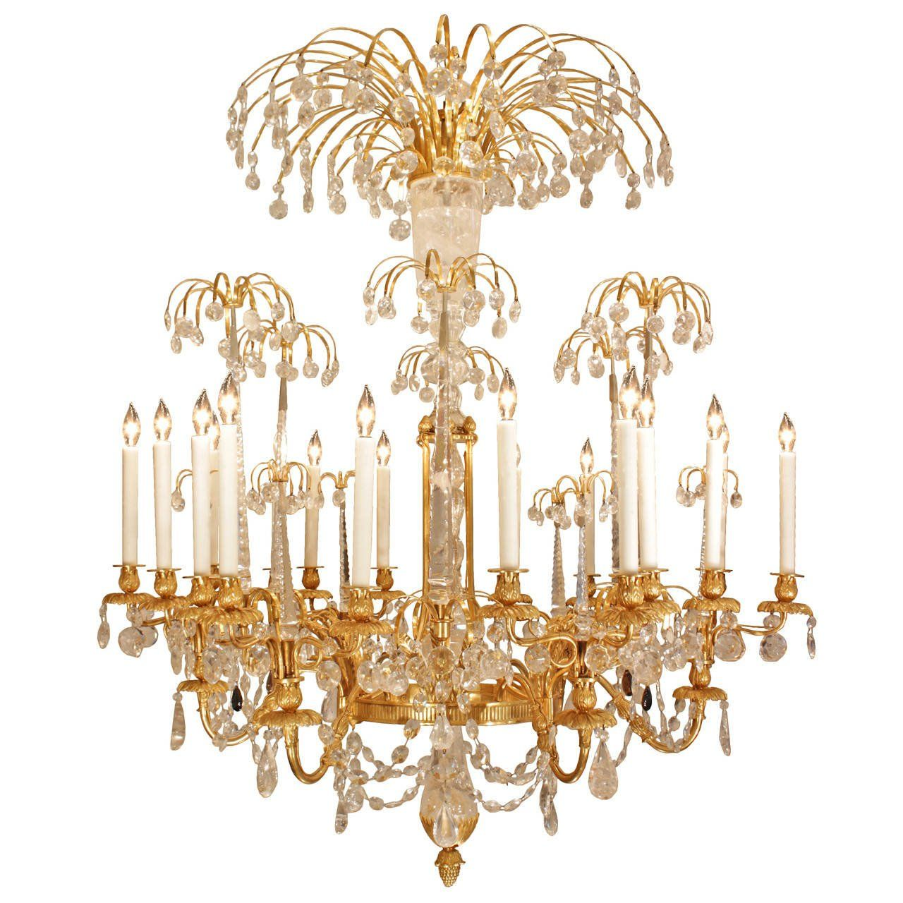 Russian imperial neo classical style ormolu and rock crystal chandelier russian imperial neo classical style ormolu and rock crystal chandelier see more antique and aloadofball Choice Image