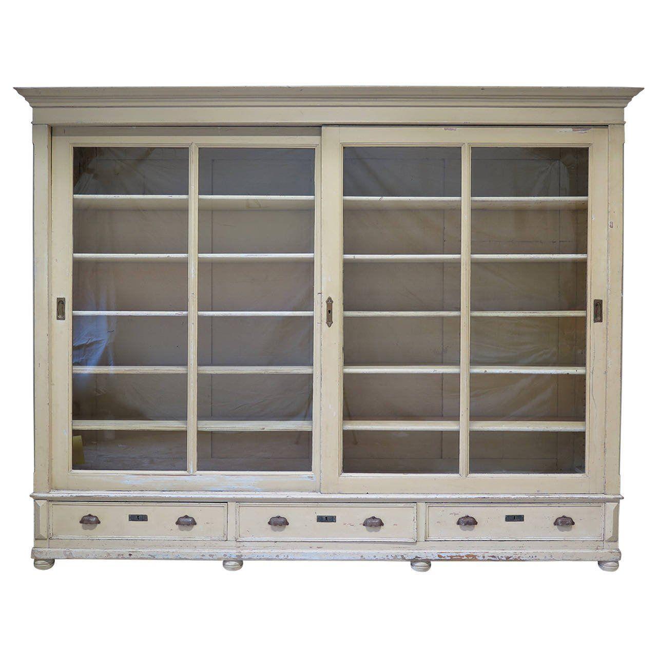 16  Bookcase with Sliding Glass Doors - Vintage Modern Furniture ...