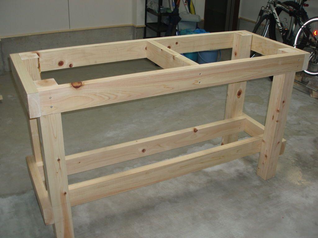 Image Result For Garage Corner Workbench Avec Images Plans D Etablis Projets De Menuiserie Etabli Bricolage