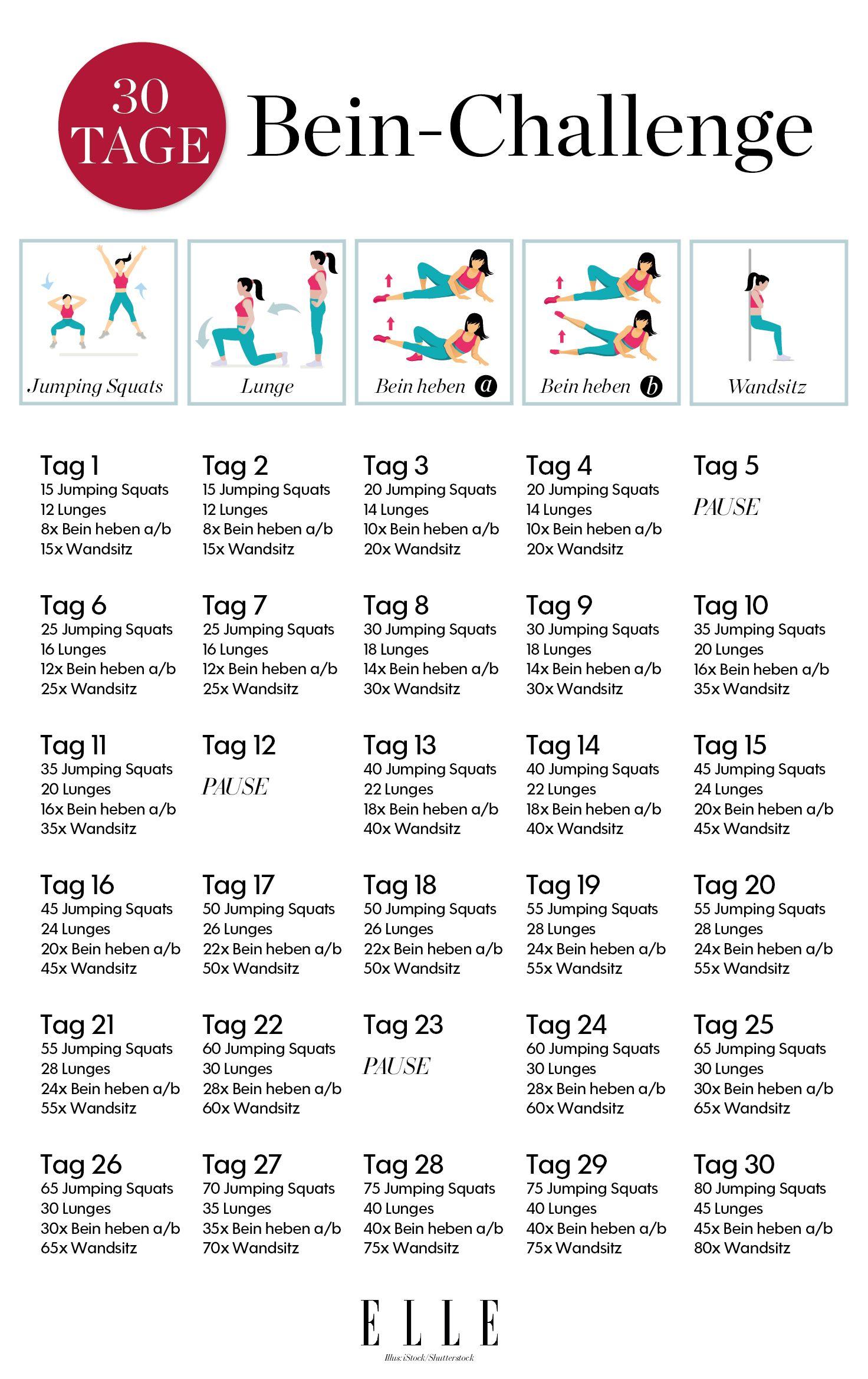 30-Tage-Challenge für schlanke Oberschenkel #fitnesschallenges