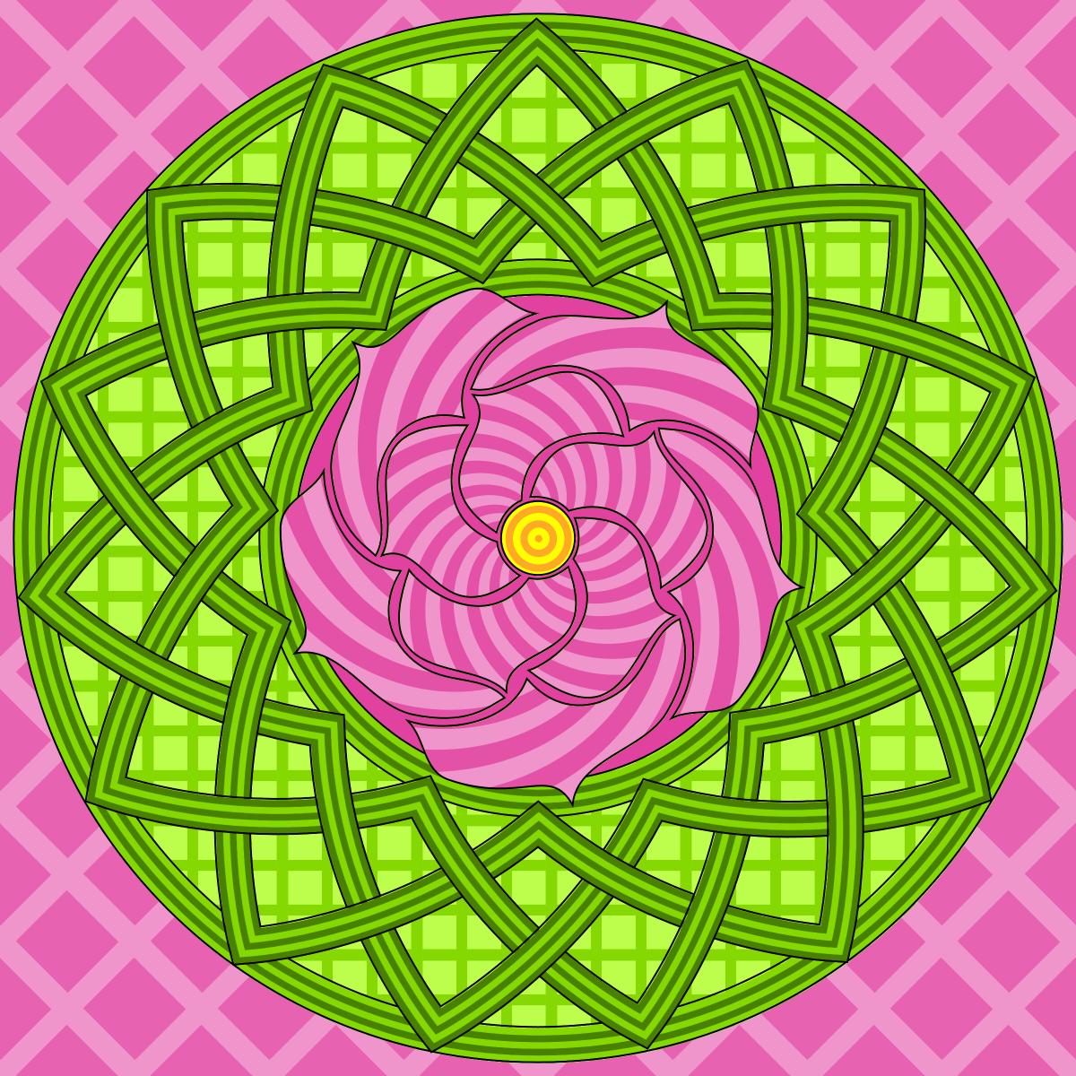Mandala-Rose Coloring Page | mandala | Pinterest | Mandala ...