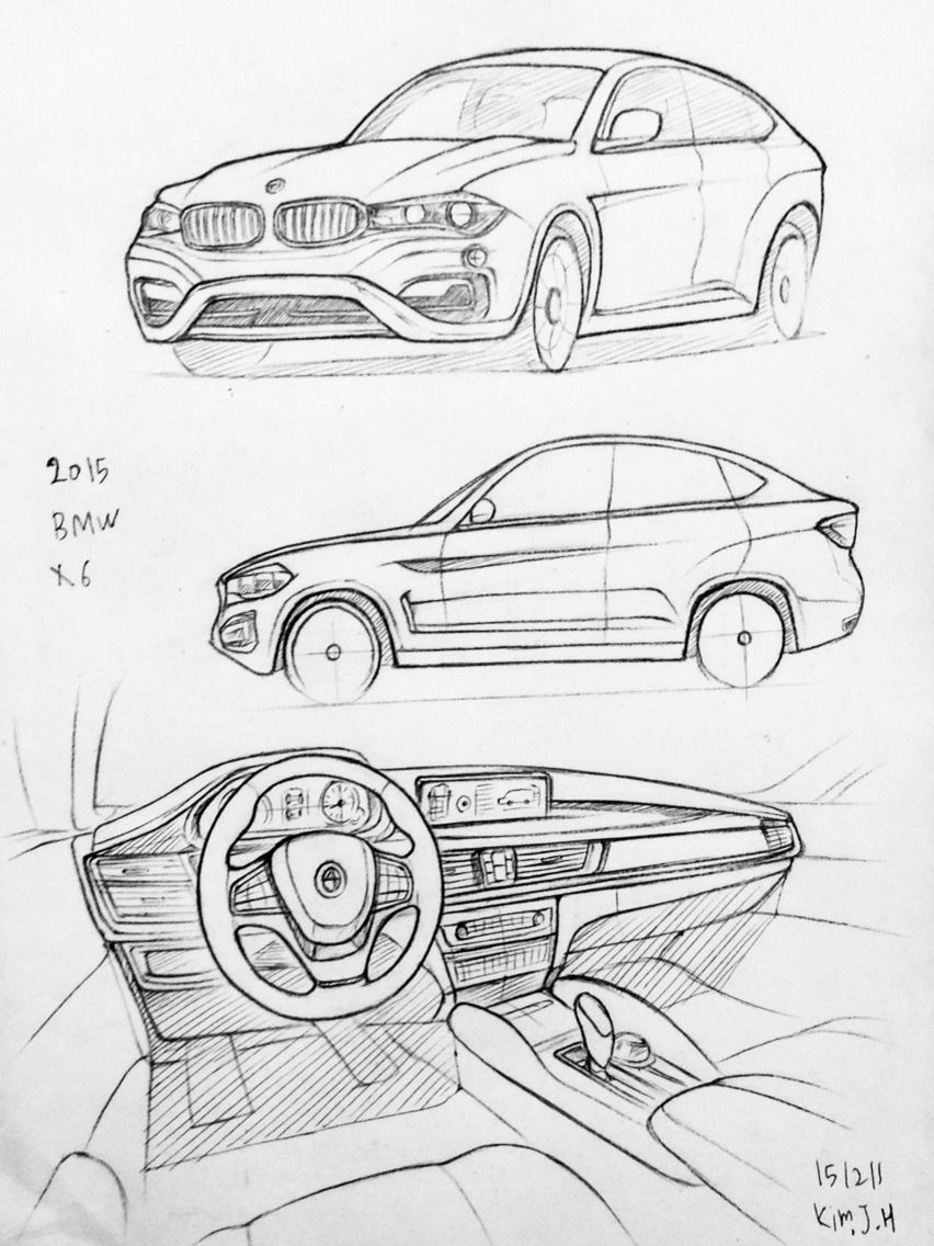 Car Drawing 151211 2015 Bmw M6 Prisma On Paper Kim J H Dibujos De Coches Carro Dibujo Como Dibujar Coches