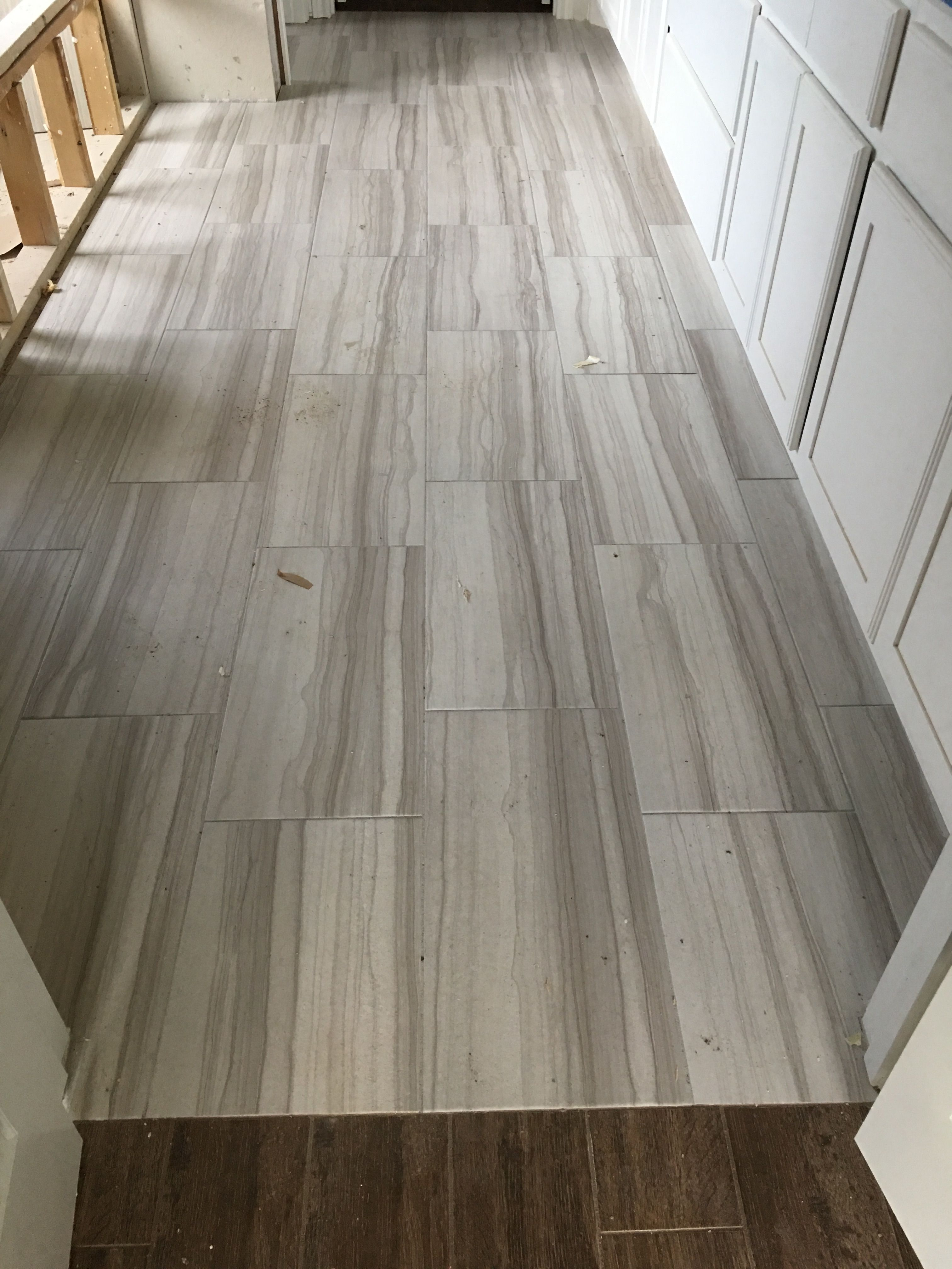 Interceramic Burano Bianca Veletta 12 X 24 W 1 8 Grout Lines Currently Ungrouted But Will Be Texrite Chromaflex Exec House Flooring Flooring Hardwood Floors